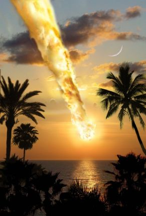 space asteroid impact image