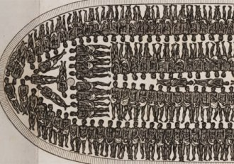 African slave ship diagram