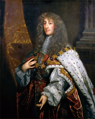 Portrait of James II (1633-1701) in Garter Robes (oil on canvas)